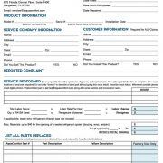 AquaComfort Warranty Claim Form